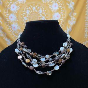Brighton Multi Strand Crystal Pearl Necklace 🤎🤍